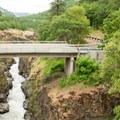 A view from the pedestrian bridge.- Klickitat Trail, Lyle Trailhead