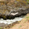 Native American fishing platforms along the Klickitat River.- Klickitat Trail, Lyle Trailhead