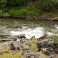 Small rapids along the Klickitat River.- Klickitat Trail, Lyle Trailhead