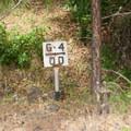 Old rail markers on the Klickitat Trail.- Klickitat Trail, Lyle Trailhead