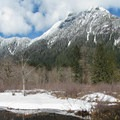 Stillaguamish Peak (5,740') to the north.- Big Four Ice Caves