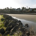 View looking south across Joe Creek from Pacific Beach State Park.- Pacific Beach State Park