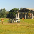 Day use picnic area in Griffiths-Priday State Park.- Griffiths-Priday State Park