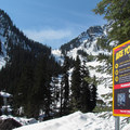 Avalanche checkpoint near the Snow Lake Trailhead.- Source Lake