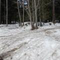 Leaving the parking lot at Price Creek Sno-Park.- Keechelus Ridge