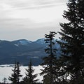 A small cabin overlooking Keechelus Lake.- Keechelus Ridge