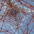 Looking up the radio tower.- Keechelus Ridge