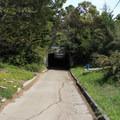 Tunnel under Highway 1 connecting Mori Point to Mori Ridge Trail.- Mori Point