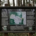 Native American Indian spirit quest site informational signage.- Wind Mountain