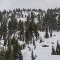 The east bowl.- Powderhouse Peak