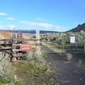 Walk-in access to Barns Warm Springs via a side entry near the gate.- Barnes Warm Springs