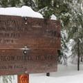 Mineral Jane Ski Trail sign.- Barlow Butte Hut