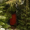The outhouse at Barlow Butte.- Barlow Butte Hut