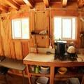 Barlow Butte Hut's interior.- Barlow Butte Hut