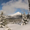 Mount Hood and White River Valley.- Barlow Butte Hut