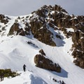 Ascending the east ridge of Mount Diller.- Mount Diller Backcountry Ski: Southwest Chute