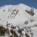 Lassen Peak (10,457') rises above all.- Mount Diller Backcountry Ski: Southwest Chute