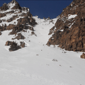 Turns in the southwest chute.- Mount Diller Backcountry Ski: Southwest Chute