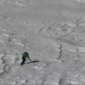 Navigating chunder on Diller's lower slopes.- Mount Diller Backcountry Ski: Southwest Chute