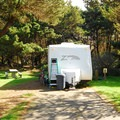 Typical campsite at Loop 4 in Ocean City State Park Campground.- Ocean City State Park Campground