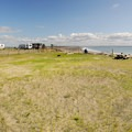 Day use picnic and tent campsite area in Quinault Marina and RV Park.- Quinault Marina + RV Park