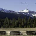View of Mount Diller and surrounding peaks form the south.- Mount Diller Backcountry Ski: Southwest Chute