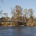 DeFazio Bike Bridge, near downtown Eugene.- Ruth Bascom Riverbank Trail System