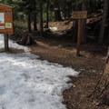 Eightmile Creek summer trailhead.- Eightmile Creek