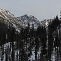 Dragontail Peak (8,842') near sunset.- Eightmile Creek