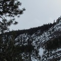 Cliffs above the creek valley.- Chiwaukum Creek