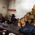 The main room is stocked with firewood for the wood-burning stoves, courtesy of the Sierra Club.- Peter Grubb Ski Hut