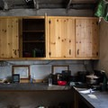 The kitchen area is located inside the main room. Potable water is not provided at the hut, so visitors must melt snow or bring water in the winter.- Peter Grubb Ski Hut