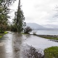 Day use picnic and boat ramp area from Falls Creek Campground.- Lake Quinault, Falls Creek Campground