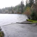 Boat ramp in Falls Creek Campground.- Lake Quinault, Falls Creek Campground