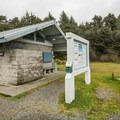 Restroom facility in South Beach Campground.- South Beach Campground + Ashenbrenner Day Use Area