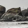 Kalaloch Beach 4 with a view of Destruction Island Lighthouse.- Kalaloch Beach 4