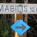 Signage at the cut-off for Forest Road 4822 in the Cabin Creek Sno-Park.- Amabilis Mountain