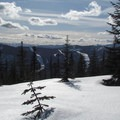 Sailing clouds from the upper slopes.- Amabilis Mountain