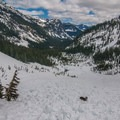 Avalanches are a main concern in the Source Lake and Snow Lake areas.- Snow Lake