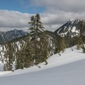Looking down to Snow Lake.- Snow Lake