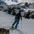 Skinning out of Snow Lake.- Snow Lake