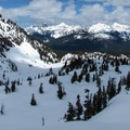 A glance north at the ski area.- Artist Point