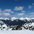 Views north toward the ski area and the Canadian Cascades beyond.- Artist Point