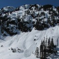 Cliffs and avalanche slopes near the base area.- Artist Point