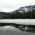 Reflection shot at Barclay Lake.- Barclay Lake Snowshoe