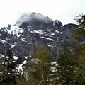 Mount Baring (6,127') towering overhead.- Barclay Lake Snowshoe