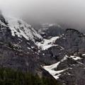 Mount Baring (6,127') towering above Barclay Lake.- Barclay Lake Snowshoe