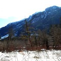 Big mountains surround you on the East Fork of the Foss River Trail.- East Fork of the Foss River