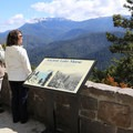 Informational signage at stops along the drive.- Hurricane Ridge