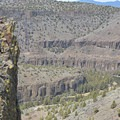 Chimney Rock (left) and the Crooked River (below).- Chimney Rock Trail
